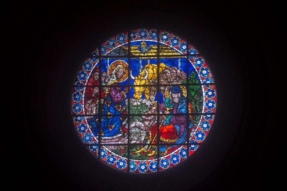 (ドゥオモ)サンタマリア・デル・フィオーレ大聖堂 ドームのフレスコ画 75mm f/4 1/320s ISO1600 (NikonD610 / Tamron 70-300mm f4-5.6 Di A17N)